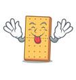 tongue out graham cookies mascot cartoon vector image vector image
