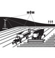 tracking agricultural machinery vector image vector image