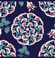 turkish iznik tile seamless islamic pattern with vector image