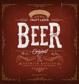 vintage beer label for bottle vector image vector image