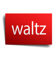 waltz red paper sign on white background vector image vector image