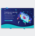 website template design isometric concept vector image