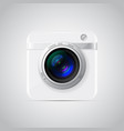 white photo camera icon vector image vector image