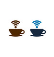 wifi coffee icons design isolated vector image vector image