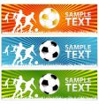 soccer ball or football banners vector image