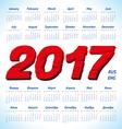 calendar grid 2017 vector image