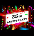 35 years with anniversary vector image vector image