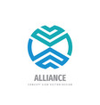 alliance business cooperation logo design vector image