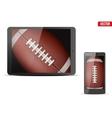 American Football Ball on gadgets vector image vector image