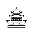 Asian pagoda tower icon isolated
