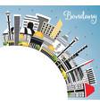 bandung indonesia city skyline with gray vector image vector image