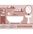 bathroom interior flat design vector image