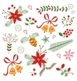 Beautiful Christmas and New year decorative vector image vector image