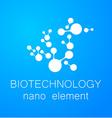 biotechnology nano logo vector image vector image