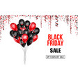 black friday sale poster with balloons vector image vector image