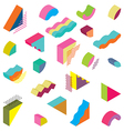 blocks isometric Color Design elements vector image