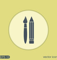 Brush and Pencil drawing characters vector image