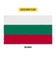 Bulgarian grunge flag with little scratches on vector image vector image