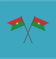 burkina faso flag icon in flat design vector image vector image