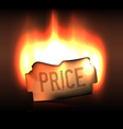 Burning bright price sticker in the dark vector image vector image