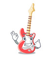 call me electric guitar isolated with the mascot vector image vector image