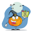 Cartoon Pumkin A Bag Of Candy vector image vector image