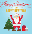 Christmas poster design with Santa Claus christmas vector image