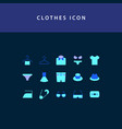 clothes flat style design icon set vector image vector image