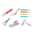 Colorful Set of Builders Tools Icon vector image vector image