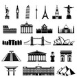 countries of the world silhouette architecture vector image