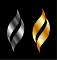 Design element in gold and silver vector image vector image