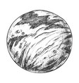 designed planet solar system monochrome vector image