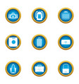drawer icons set flat style vector image