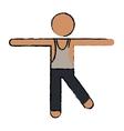 drawing sportman artistic gymnastics vector image
