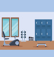exercise machines cartoons vector image