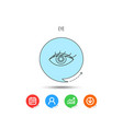 eye icon human vision sign vector image