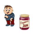 Fat boy and the jam jar