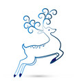 festive christmas deer icon vector image vector image