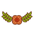 flower and leaves branch natural vector image vector image