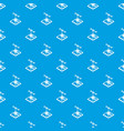 flower d printing pattern seamless blue vector image vector image