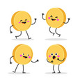 funny smiling cute gold coin vector image vector image