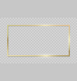 gold frame on transparent background realistic vector image vector image