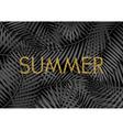 Gold Summer Poster Design vector image vector image