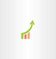 growth chart icon design vector image vector image