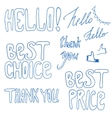 Hand drawn best price best chance signs vector image vector image