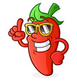 hot pepper cartoon character with attitude vector image vector image