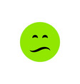 isolated sad flat icon frown element can vector image vector image