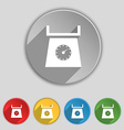 kitchen scales icon sign Symbol on five flat vector image vector image