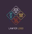 linear logo vector image