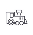locomotive train toy line icon sign vector image vector image